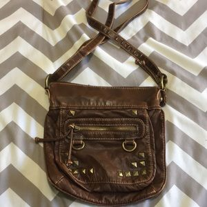 Brown slouchy satchel